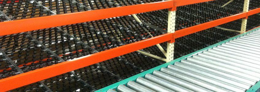 Gravity Conveyor Rack - Storage Solutions Inc