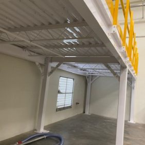 White Underside Mezzanine Platform