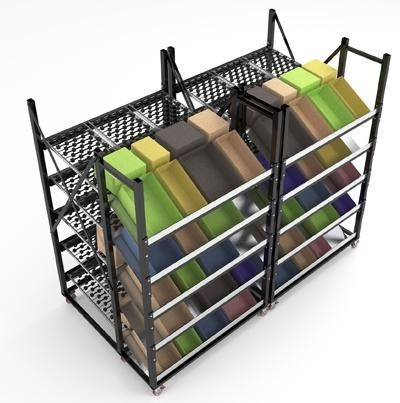 Carton Flow Mobile Cart - Storage Solutions Inc SSI